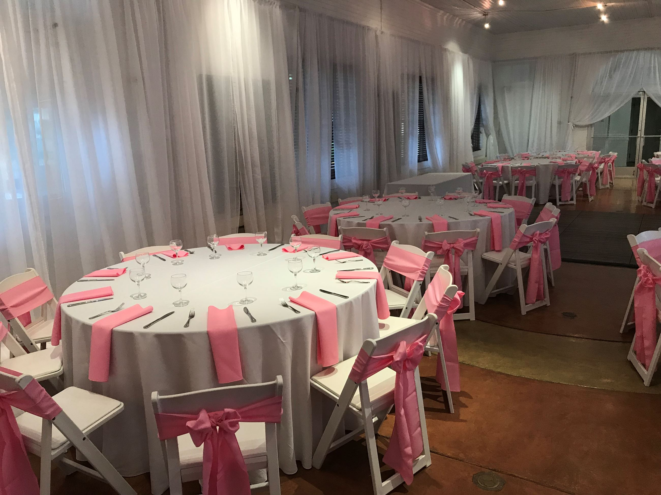 Pink Reception Tables