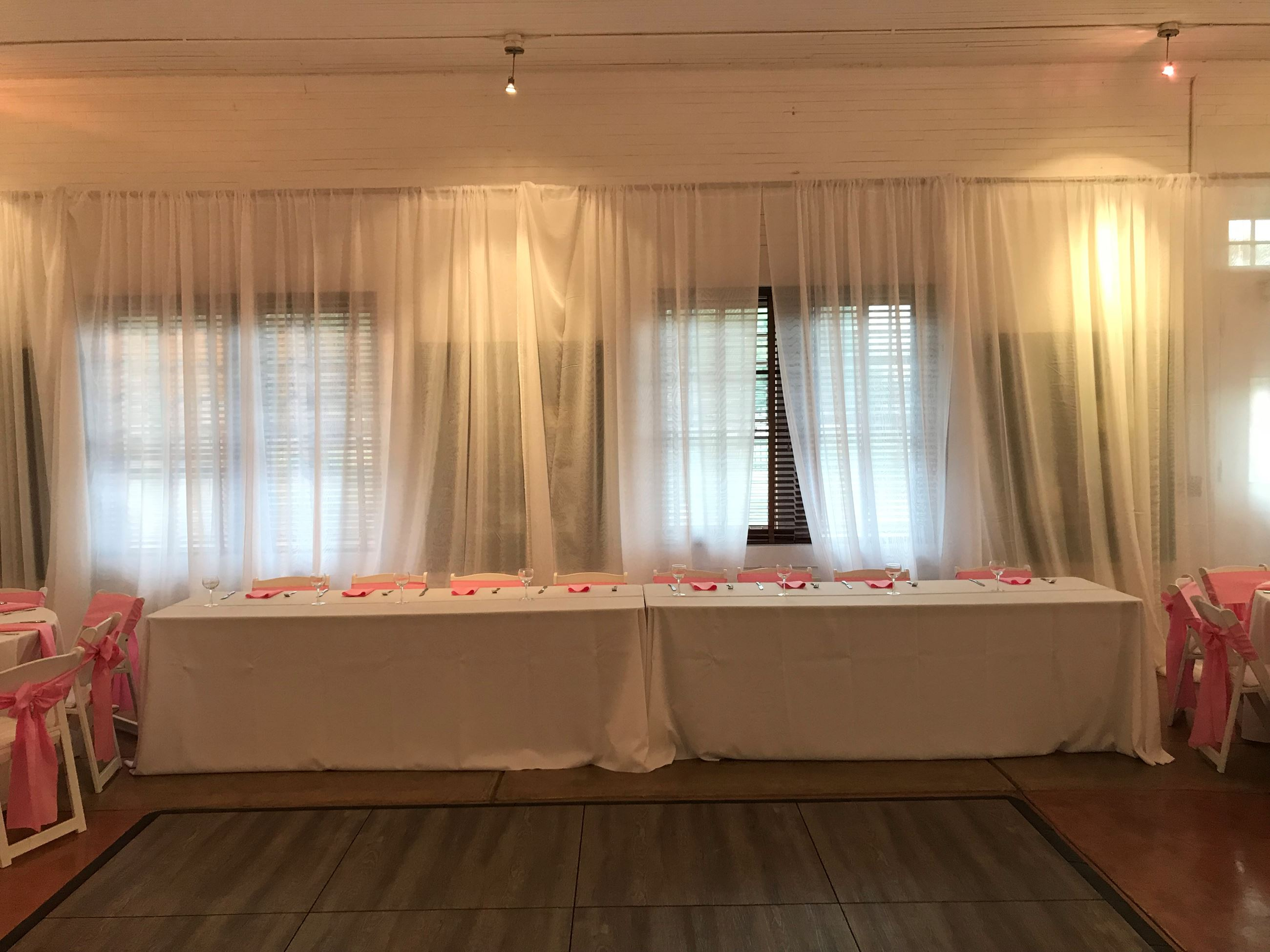 Pink Theme Head Table
