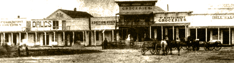 North side of Courthouse Square, 1870's.