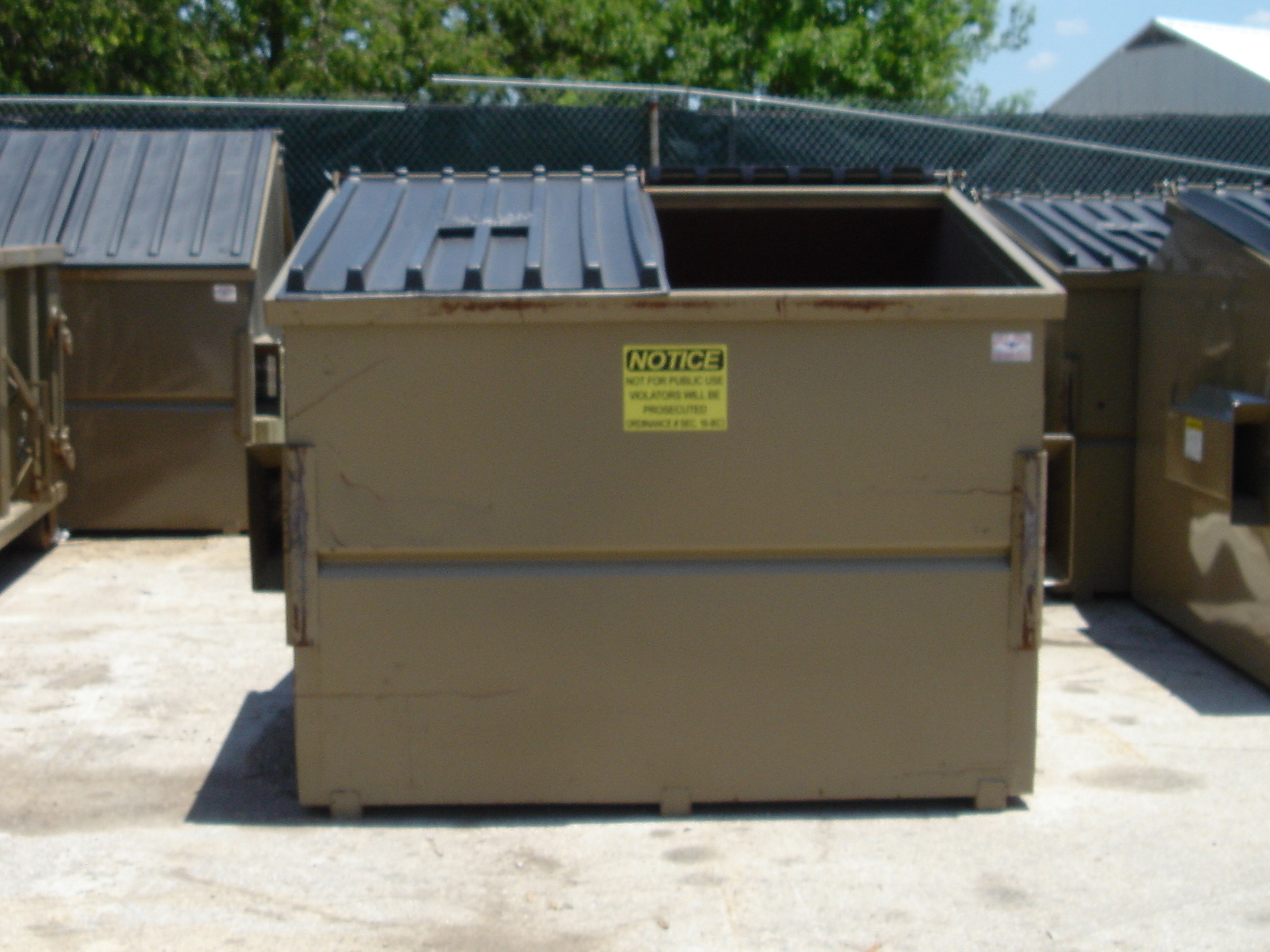 commercial dumpster refuse service gainesville tx official website