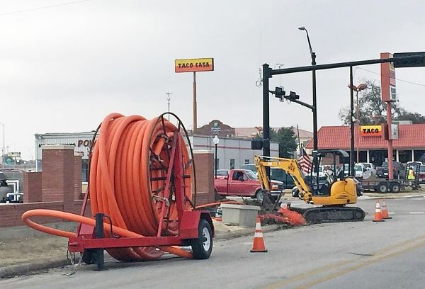 Fiber Install at California and Culberson