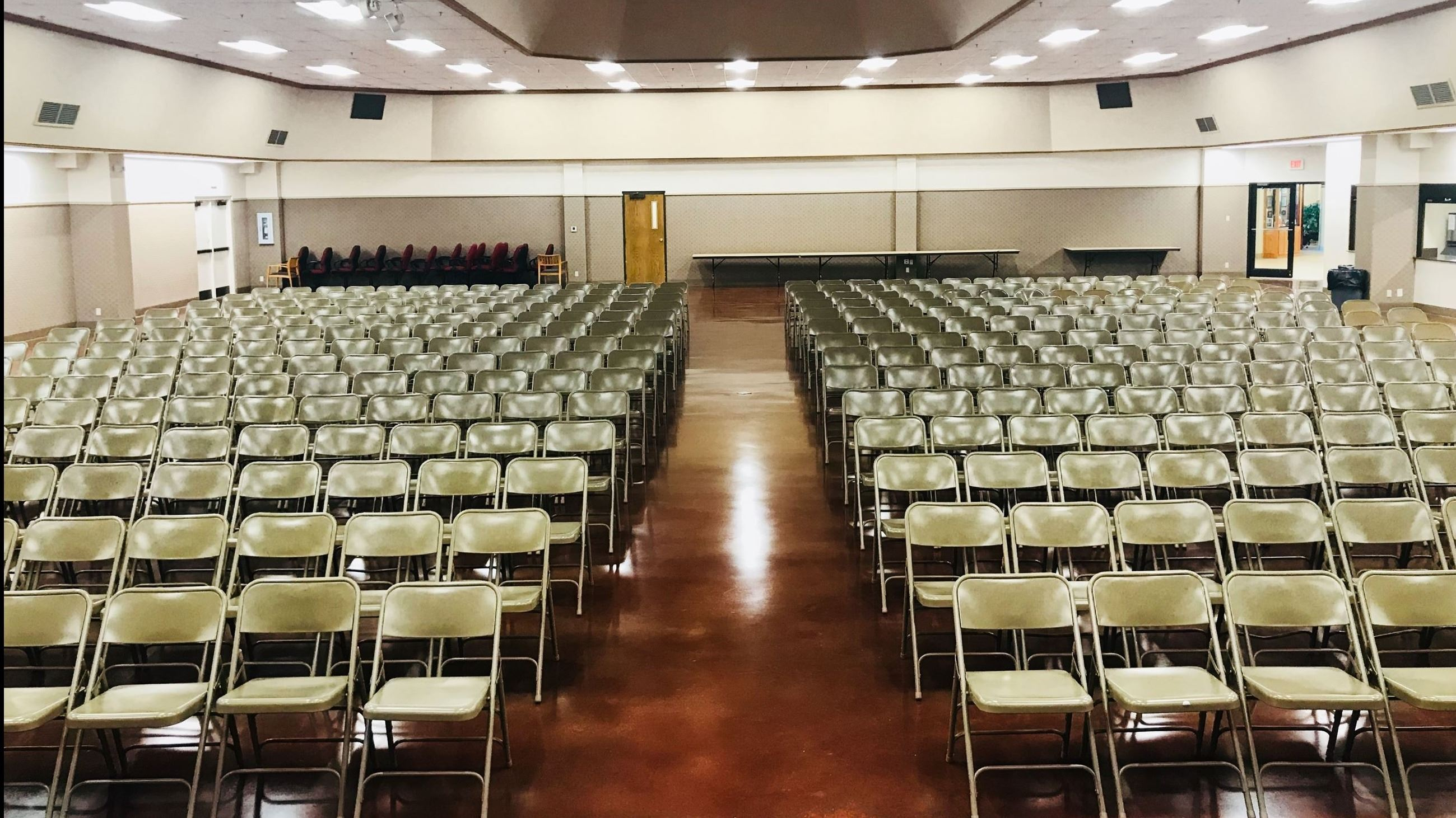 Main Hall Seminar Setup