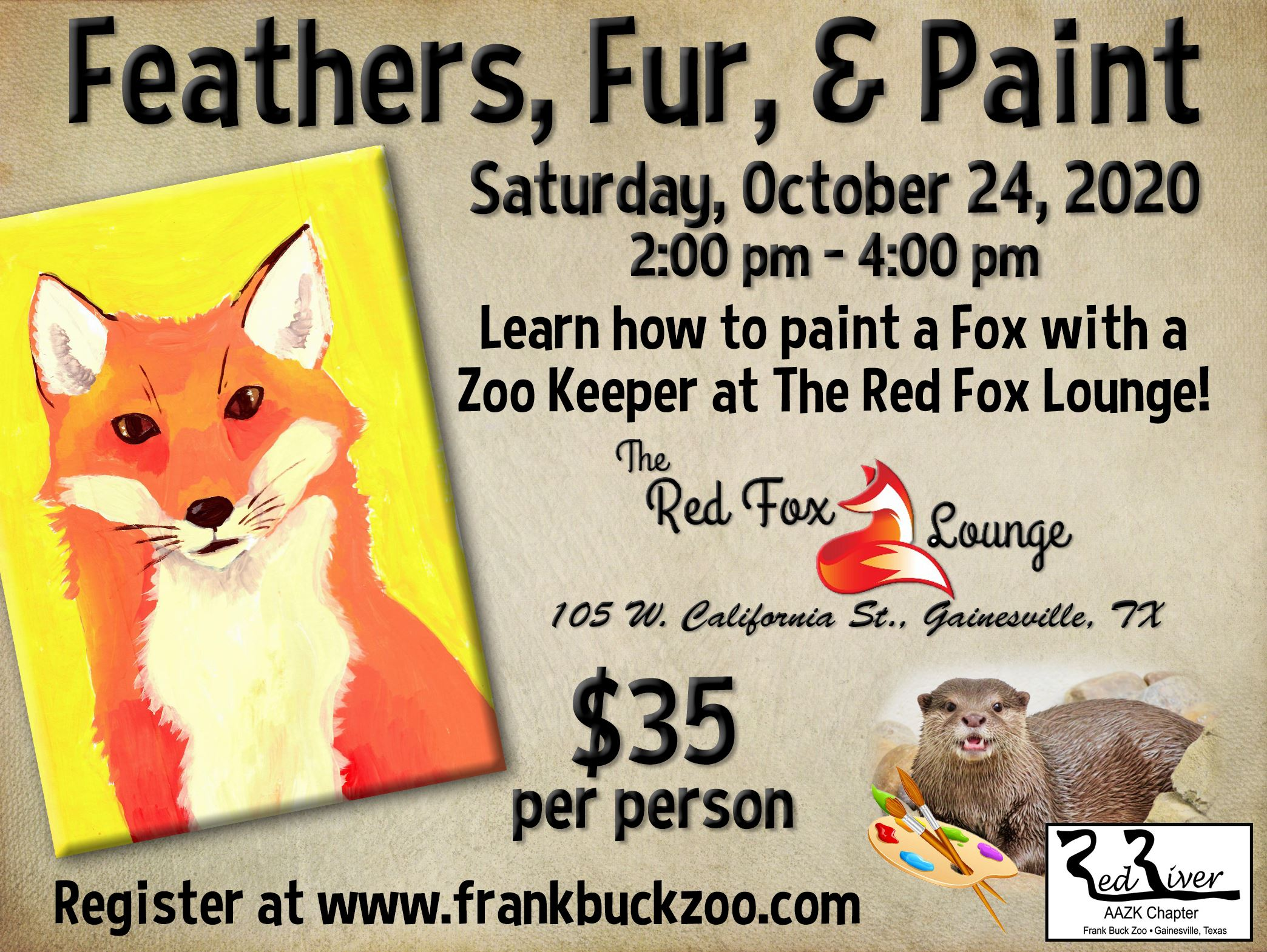 Feathers Fur Paint  Flyer - Fox 10.24.2020